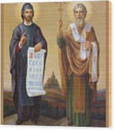 Saints Cyril And Methodius - Missionaries To The Slavs Wood Print by Svitozar Nenyuk