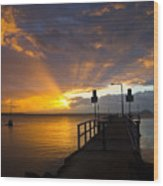 Salamander Bay Sunrise Wood Print by Avalon Fine Art Photography