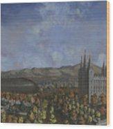 Salt Lake City Temple Square Nineteen Twelve  Wood Print by Jeff Brimley