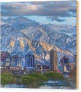 Salt Lake City Utah Usa Wood Print by Utah Images