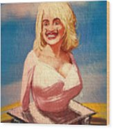 Salvador Dolly Dolly Wood Print by Russell Pierce
