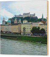 Salzburg Over The Danube Wood Print by Carol Groenen