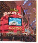 Sam Boyds Fremont Casino Wood Print by Andy Smy