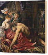 Samson And Delilah Wood Print by Peter Paul Rubens