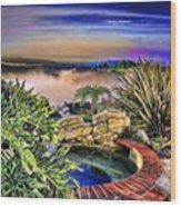 San Clemente Estate Wood Print by Kathy Tarochione