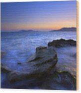San Juan Sunset Wood Print by Mike  Dawson