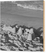 Sand Castles By The Shore Wood Print by Rob Hans