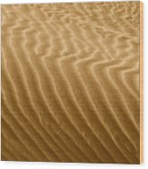 Sand Dune Mojave Desert California Wood Print by Christine Till