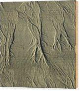 Sand Pattern Wood Print by Marc Bittan