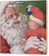 Santas Little Helper Wood Print by Richard De Wolfe