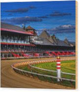 Saratoga Race Track Wood Print by Don Nieman