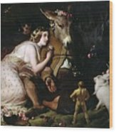 Scene From A Midsummer Night's Dream Wood Print by Sir Edwin Landseer