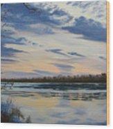 Scenic Overlook - Delaware River Wood Print by Lea Novak