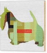 Scottish Terrier Wood Print by Naxart Studio
