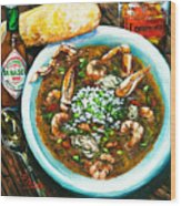 Seafood Gumbo Wood Print by Dianne Parks