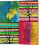 Seasons Wood Print by Ramneek Narang