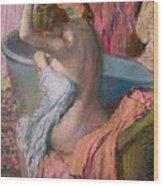 Seated Bather Wood Print by Edgar Degas