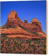 Sedona Rock Formations Wood Print by David Patterson