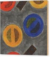 Segments 1 Wood Print by David Townsend