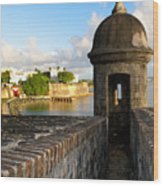 Sentry Post On Old City Wall Wood Print by George Oze