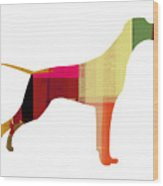 Setter Pointer Wood Print by Naxart Studio