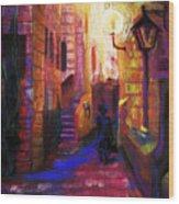 Shabbat Shalom Wood Print by Talya Johnson