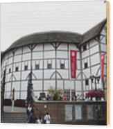 Shakespeare's Globe Theater Wood Print by Charles  Ridgway