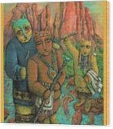 Shamans Of Sedona  Wood Print by Janice Hightower