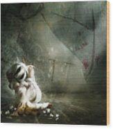 Shame Wood Print by Mary Hood