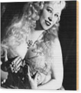 She Done Him Wrong, Mae West, 1933 Wood Print by Everett