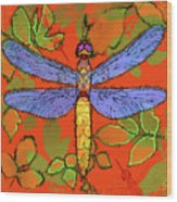 Shining Dragonfly Wood Print by Mary Ogle