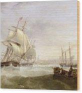 Shipping Off Hartlepool Wood Print by John Wilson Carmichael
