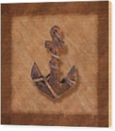 Ship's Anchor Wood Print by Tom Mc Nemar
