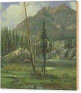Sierra Nevada Mountains Wood Print by Albert Bierstadt