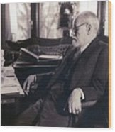 Sigmund Freud Seated In His Study Wood Print by Everett
