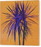 Silhouette On Orange Wood Print by Margaret Saheed