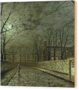 Silver Moonlight Wood Print by John Atkinson Grimshaw