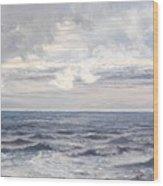 Silver Sea Wood Print by Henry Moore