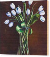 Simply Tulips Wood Print by Shannon Grissom