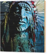 Sioux Chief Wood Print by Paul Sachtleben