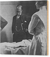 Sir William Osler 1849 – 1919, Reading Wood Print by Everett