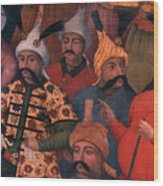 Six Sultans Wood Print by Carl Purcell
