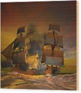 Skirmish Wood Print by Carol and Mike Werner
