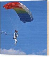 Skydiving - 1 Wood Print by Randy Muir