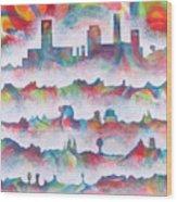 Skyline Wood Print by Rollin Kocsis