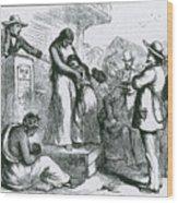 Slave Auction Wood Print by Photo Researchers