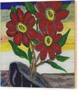 Slipper Flower Wood Print by Enrico Pischiera