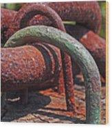 Snaking Rust  Wood Print by Rona Black