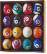 Snooker Balls Wood Print by Carlos Caetano
