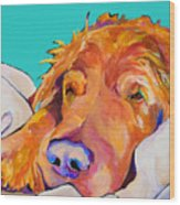 Snoozer King Wood Print by Pat Saunders-White